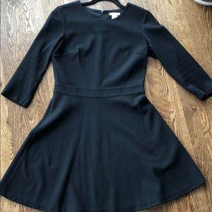 Club Monaco black textured dress
